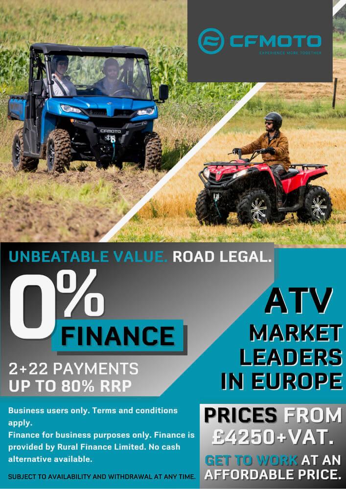 0% finance atv side-by-side